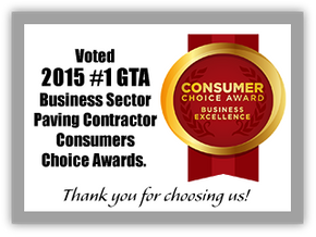 Voted 2015 #1 GTA Business Sector Paving Contractor Consumers Choice Awards.