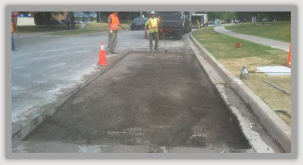 regrading the road